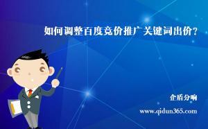 北京竞价推广托管公司:企盾分响是如何调整关键词出价的?